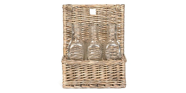 Three-Bottle Basket