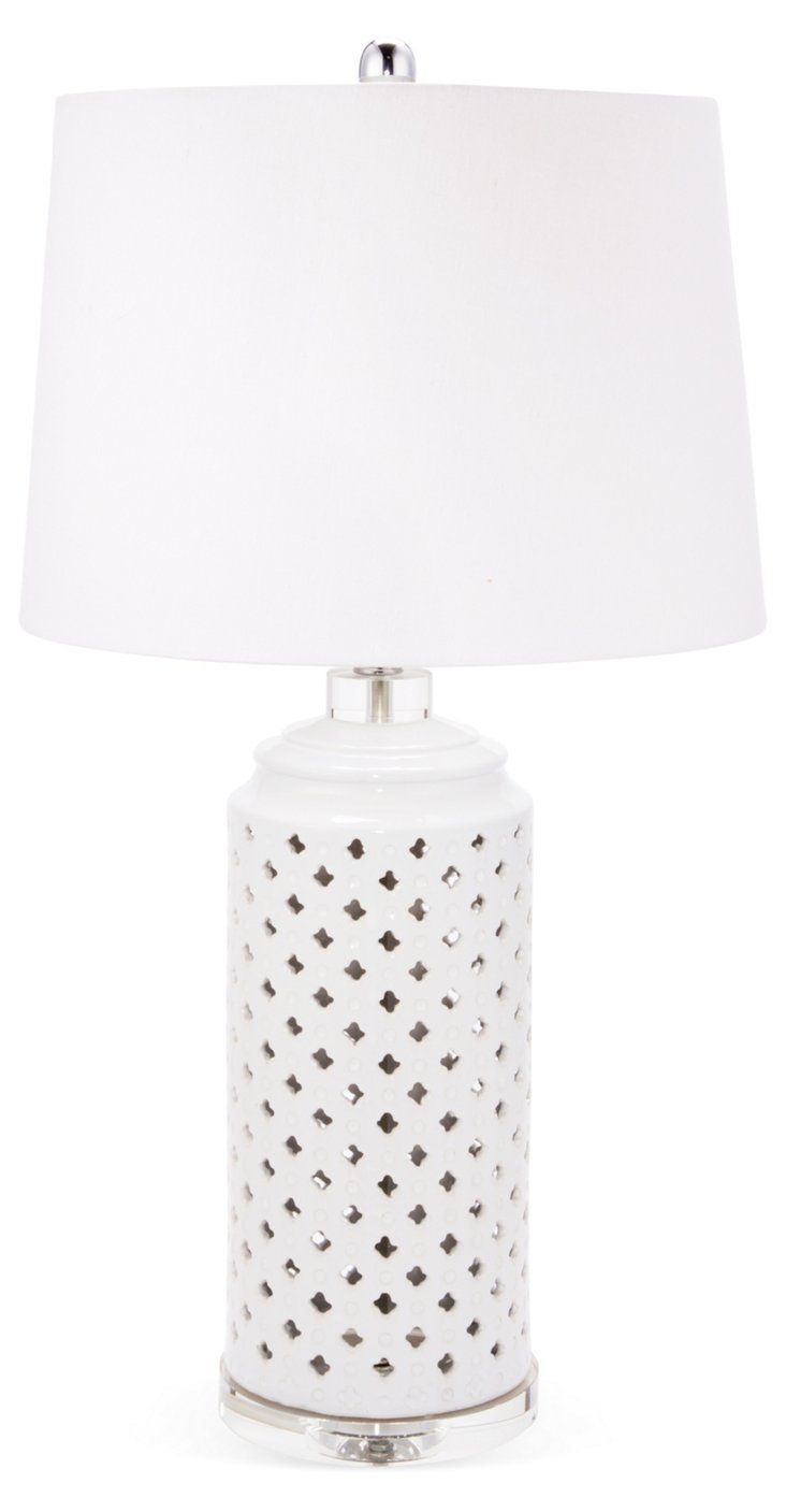 Reece Table Lamp, White