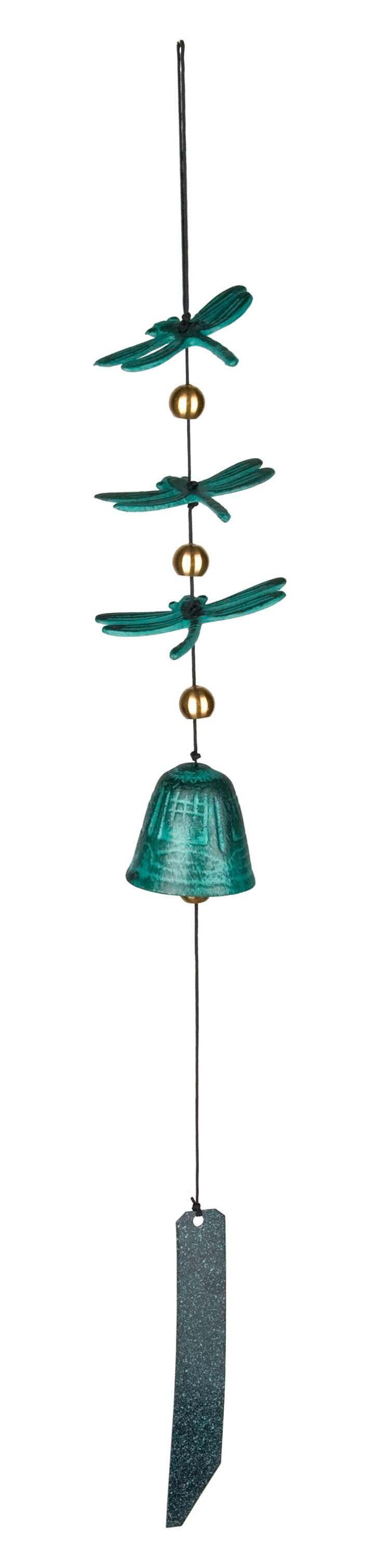 "20"" Habitats Dragonfly Wind Bell, Green"