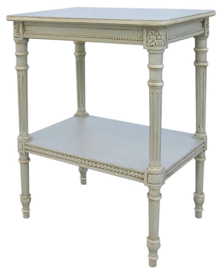 Swanson Side Table, French Blue-Gray
