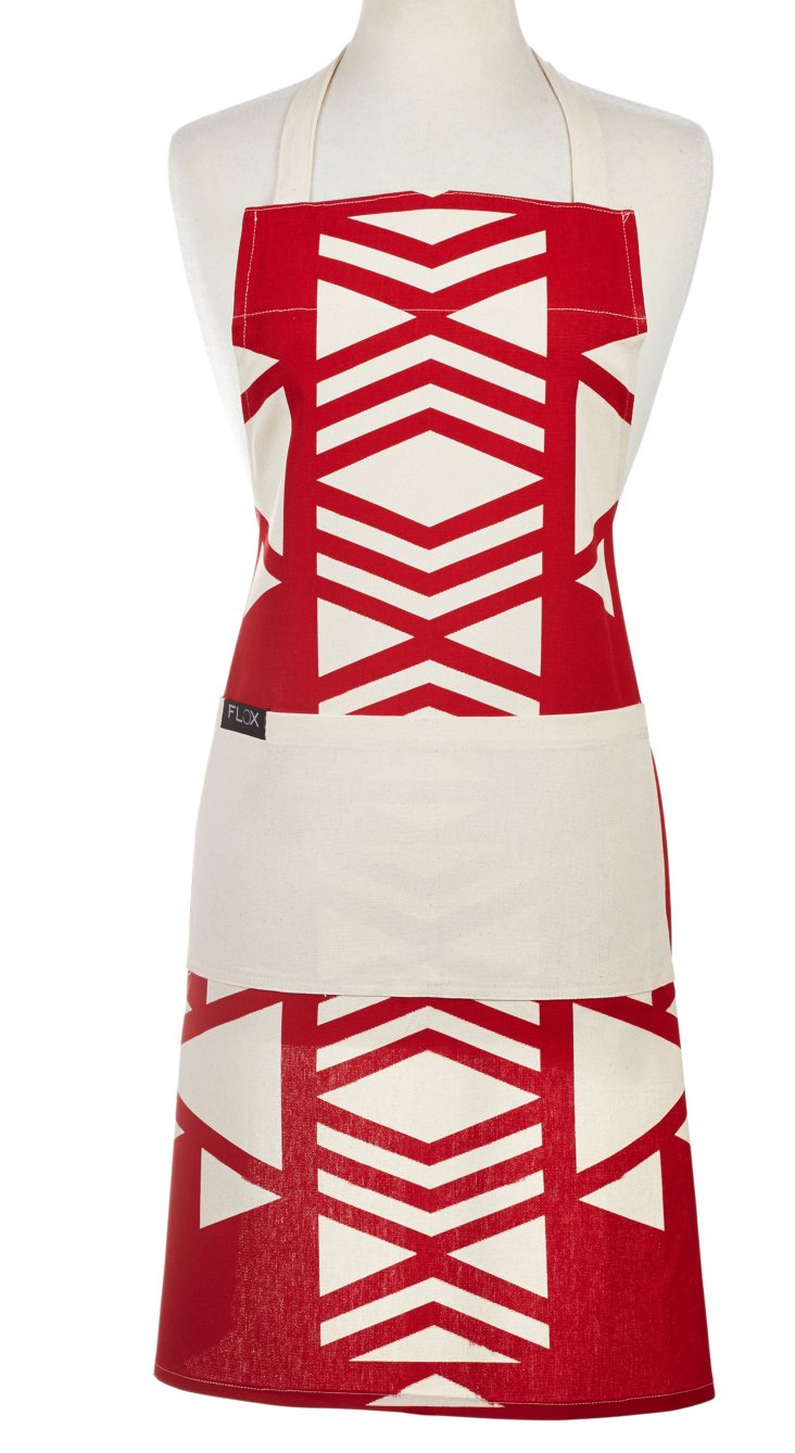 Native Americana Apron, Red