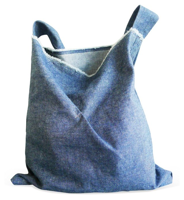Sunset Park Market Bag, Blue Denim