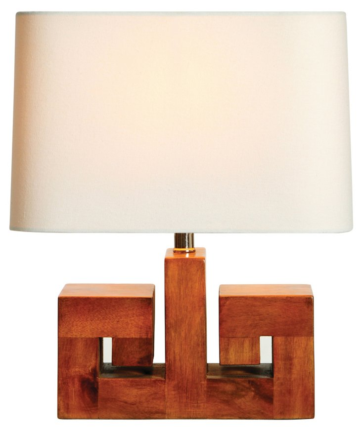Athena Accent Table Lamp, Walnut
