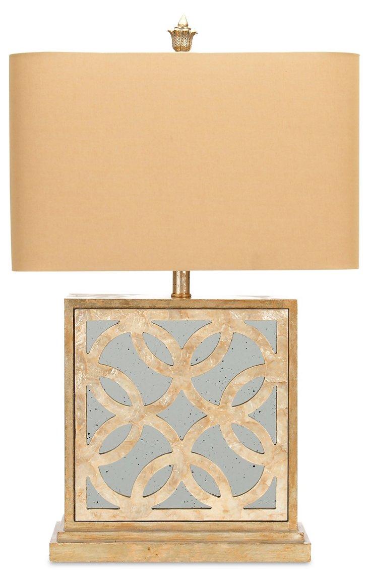 Rivera Table Lamp, Silver