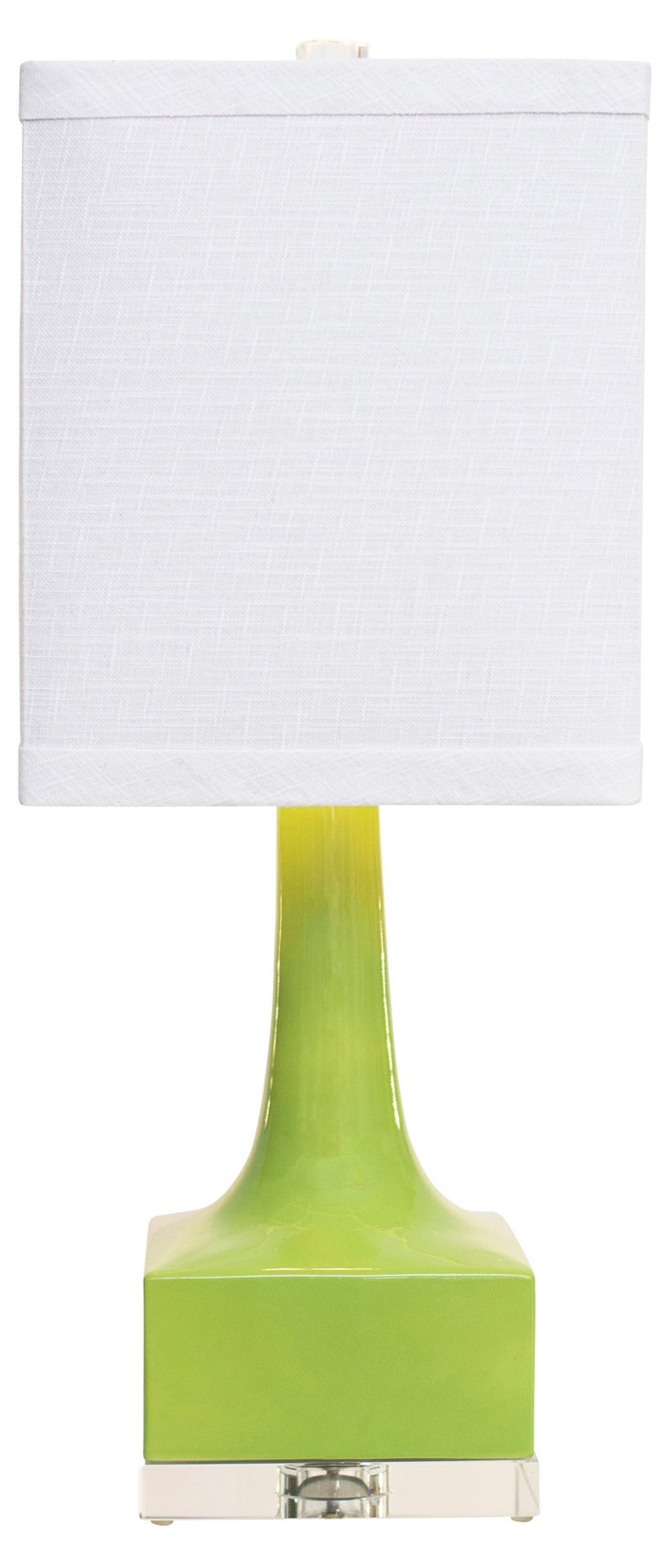 Westwood Table Lamp, Glossy Green