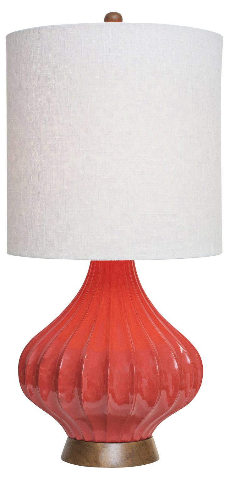 Fairfax Table Lamp, Red Orange