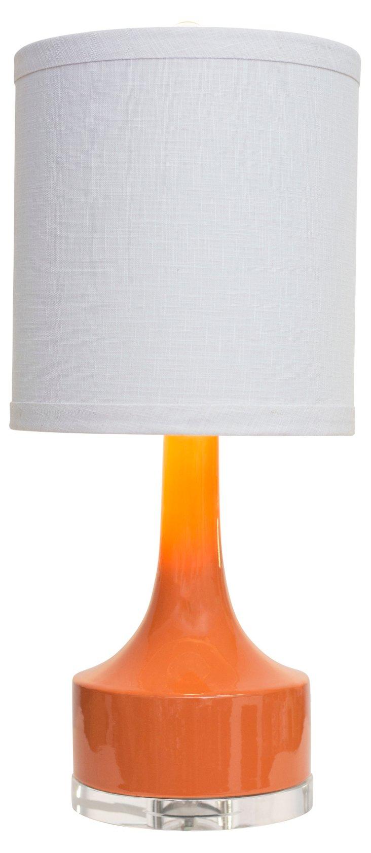 Holmby Table Lamp, Orange Gloss