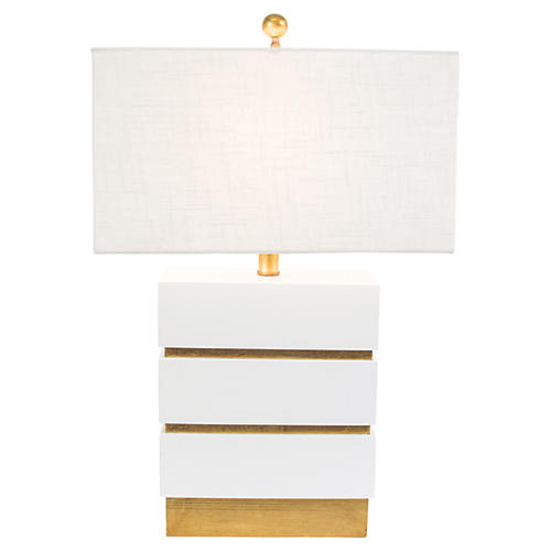 Simeon Table Lamp, White