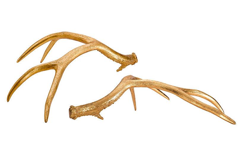 Huntsman Antler Set, Gold