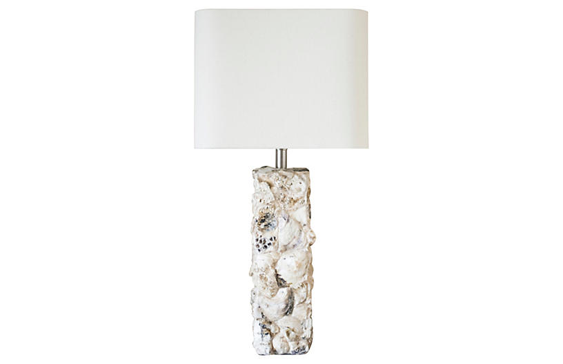 Paradise Shell Table Lamp, White