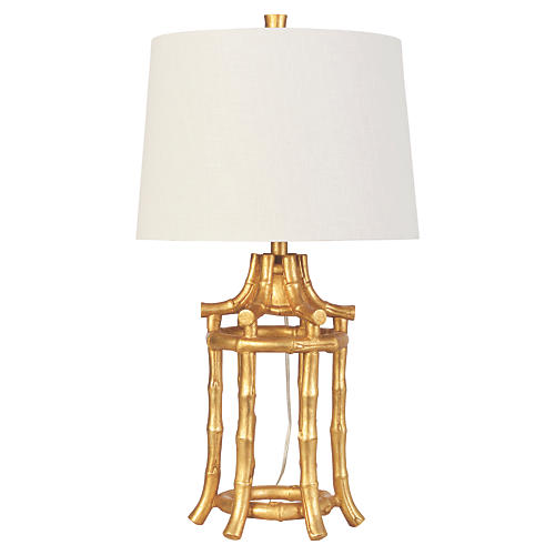 Golden Bamboo Table Lamp