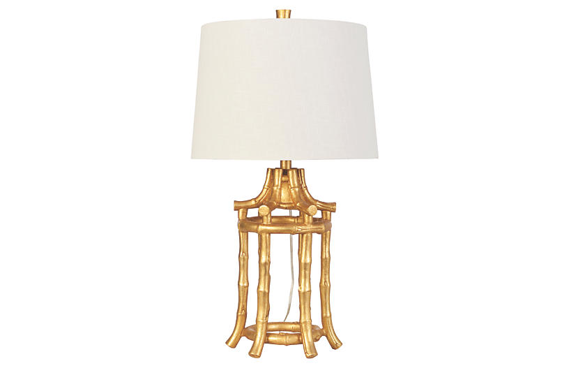 Lbl.alttext.altThumbnailImage ?? Golden Bamboo Table Lamp