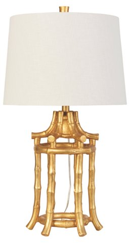 Golden bamboo table lamp couture brands one kings lane aloadofball Choice Image