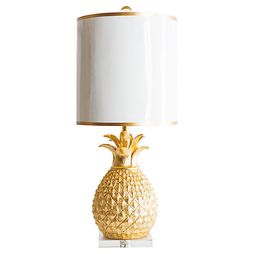 "31"" Golden Pineapple Table Lamp"