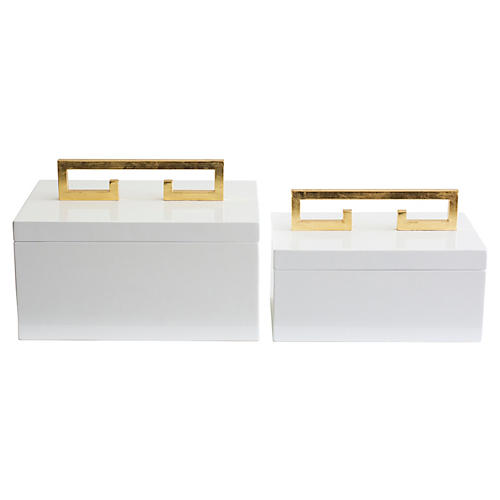 Asst. of 2 Avondale Boxes, White