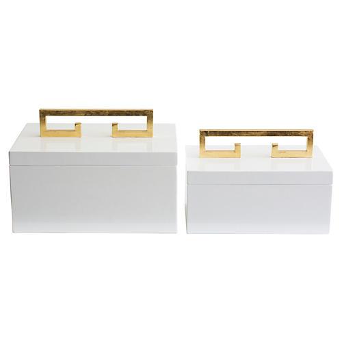 Asst. of 2 Avondale Boxes, White