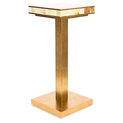 Palisades Side Accent Table, Gold