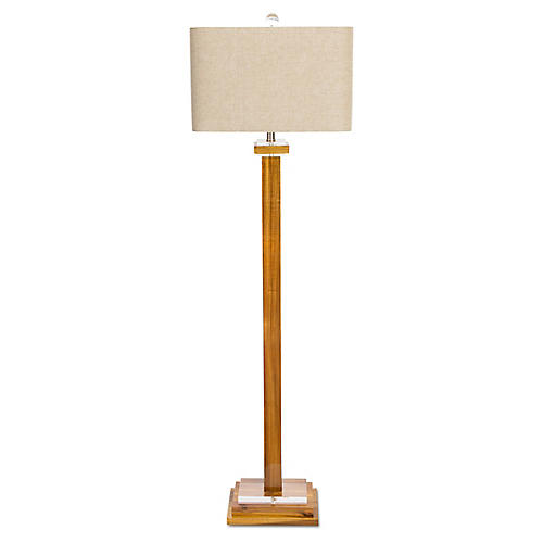 Brentwood Floor Lamp, Amber/Clear