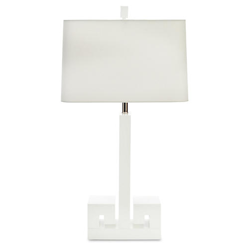 Astor Table Lamp, White