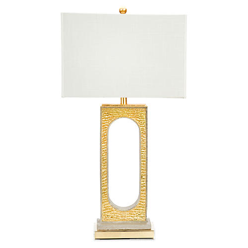 Croft Table Lamp, Gold/Gray