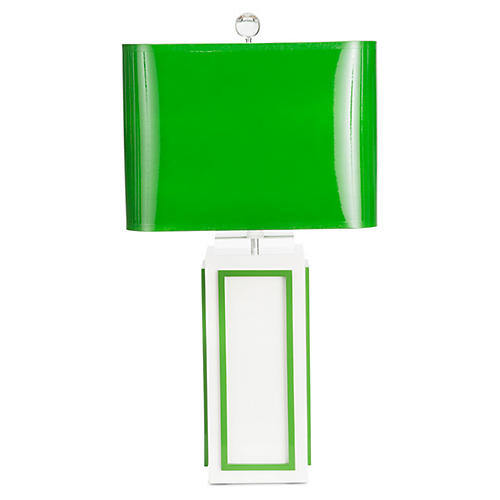 Lagos Table Lamp, Kelly Green