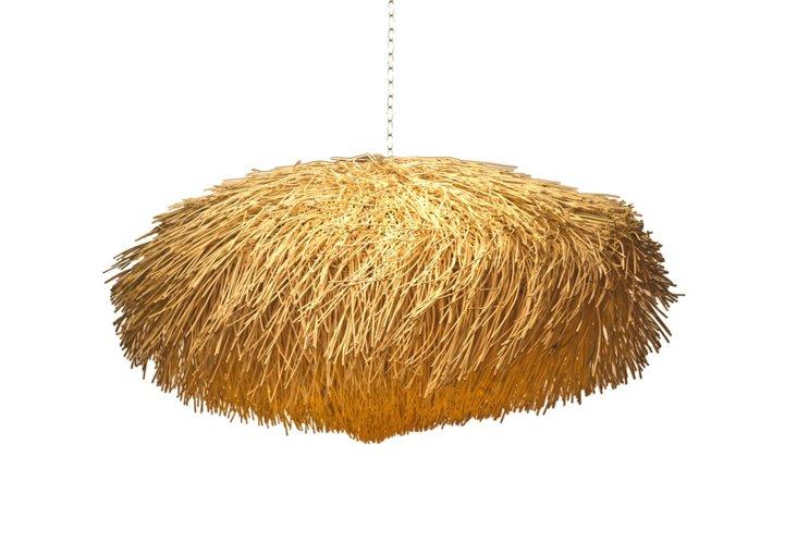 """Urchin Hanging Lamp 24"""", White"""