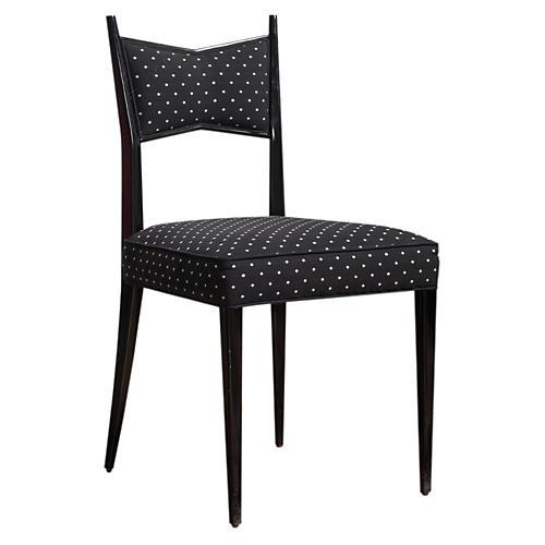 Georgia Side Chair, Black/Cream
