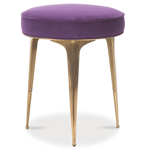 Syrie Stool, Sparkling Grape Velvet