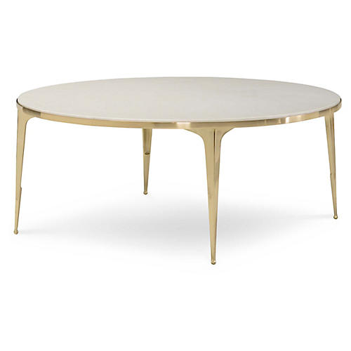 Syrie Coffee Table, Ivory