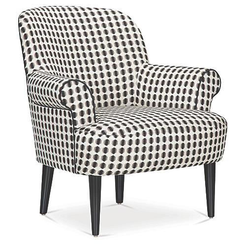 Pierce Accent Chair, Shadow Dot