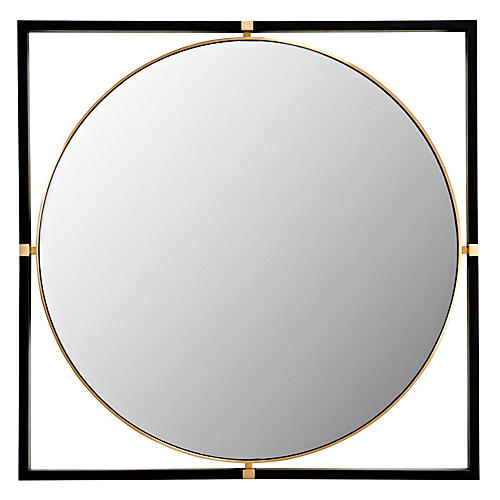 Humphrey Wall Mirror, Black