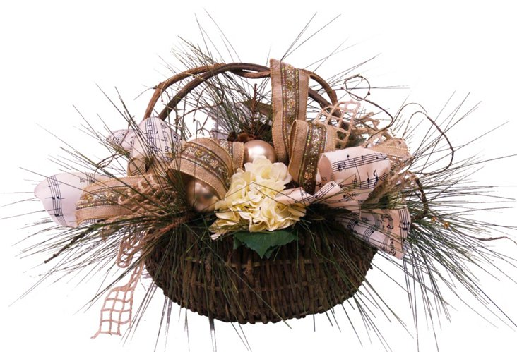 Country Pine Cone Basket