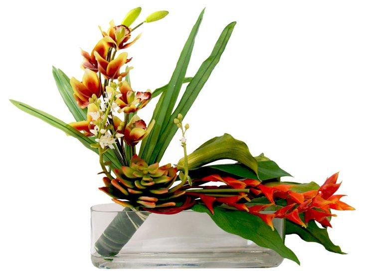 """26"""" Tropical Flower, Faux"""