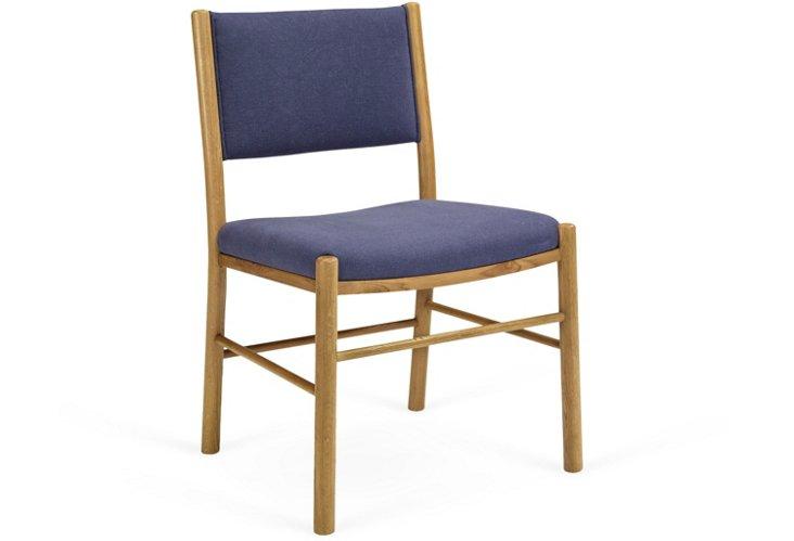 Driftwood Side Chair, Steel Blue