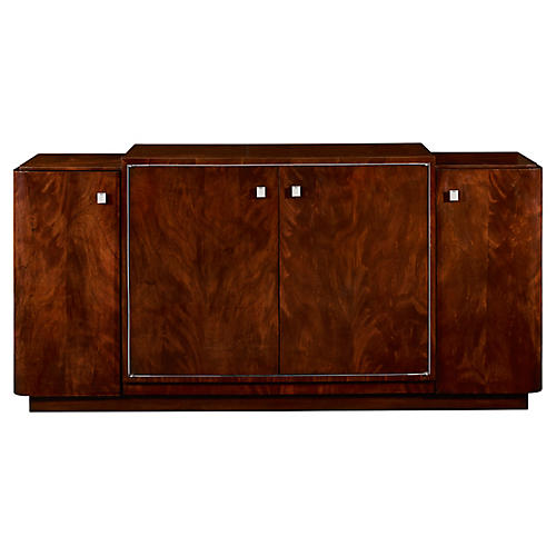 Duke Low Media Cabinet, Penthouse Mahogany