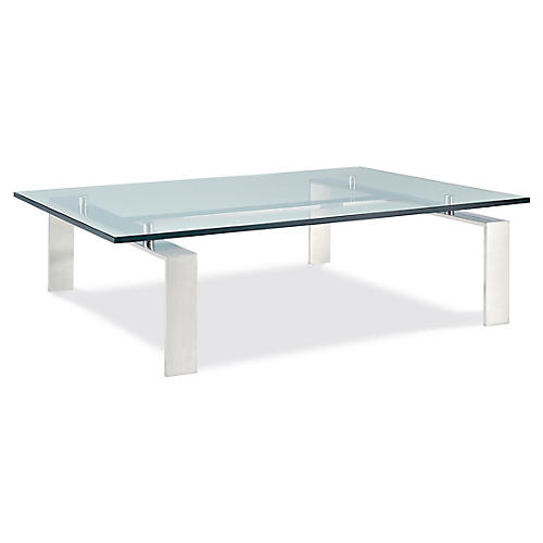 Pall Mall Coffee Table, Stainless Steel