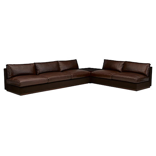 Desert Modern Sectional, Chocolate