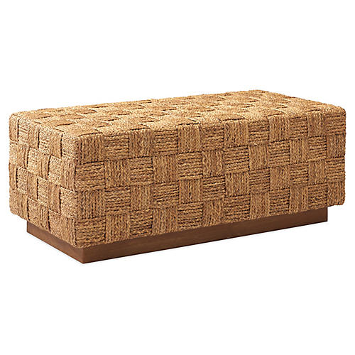 Modern Hollywood Woven Bench, Sonora Canyon