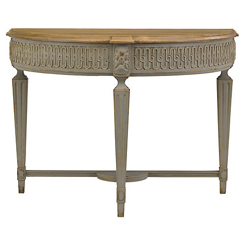 Baroque Demilune, French Gray