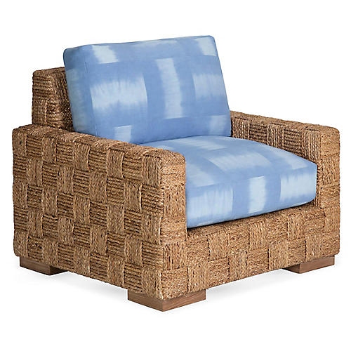 Black Palms South Pacific Club Chair, South Pacific Linen