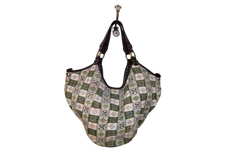 Checkered Geo Hobo Bag