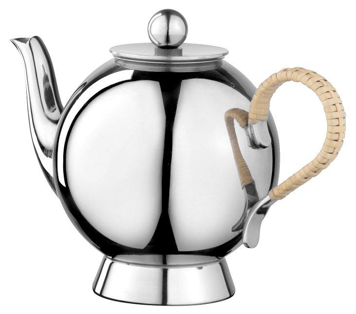 Spheres Tea Infuser w/ Wicker Handle
