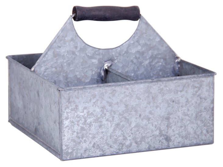 4-Compartment Square Metal Bucket
