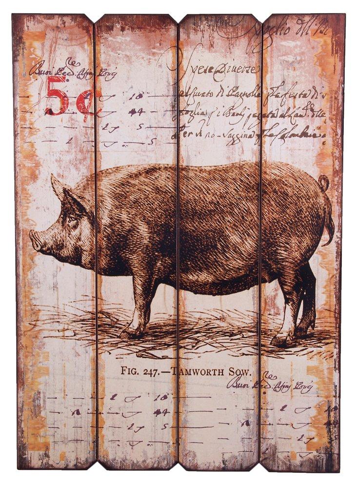 Farm Animal Wall Art, Pig