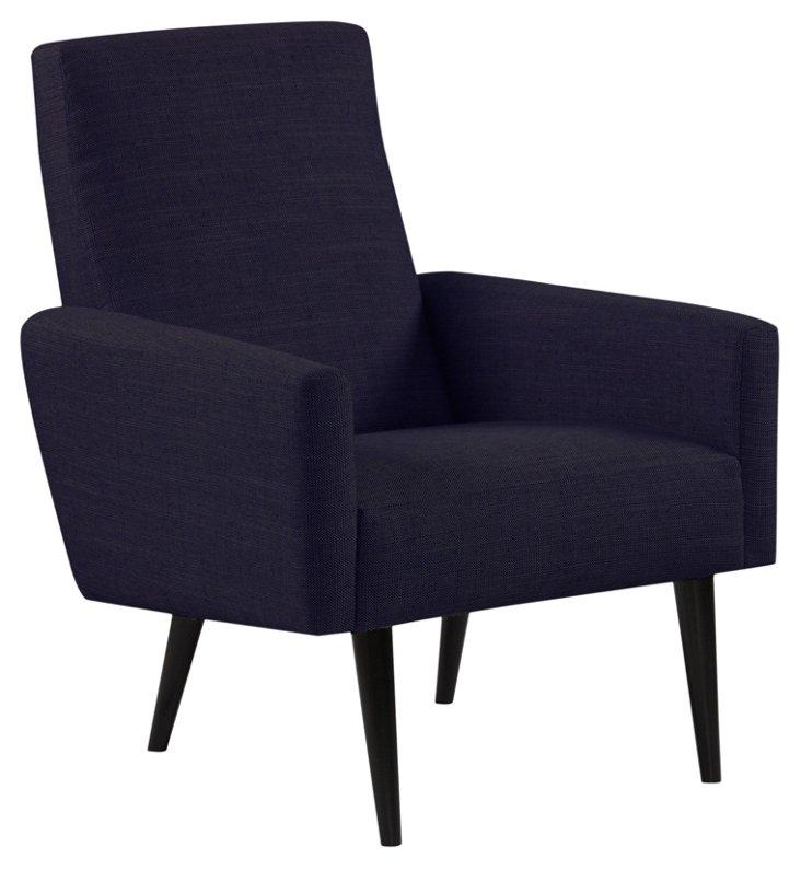 Fortuna Accent Chair, Indigo