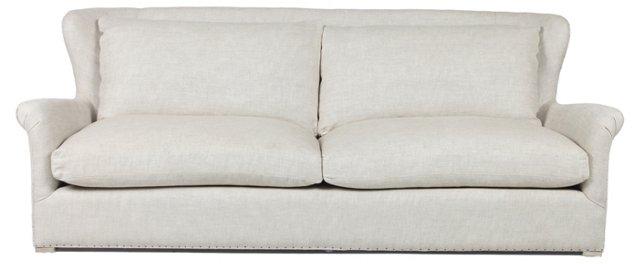 """Elise 96"""" Sofa, Cream"""