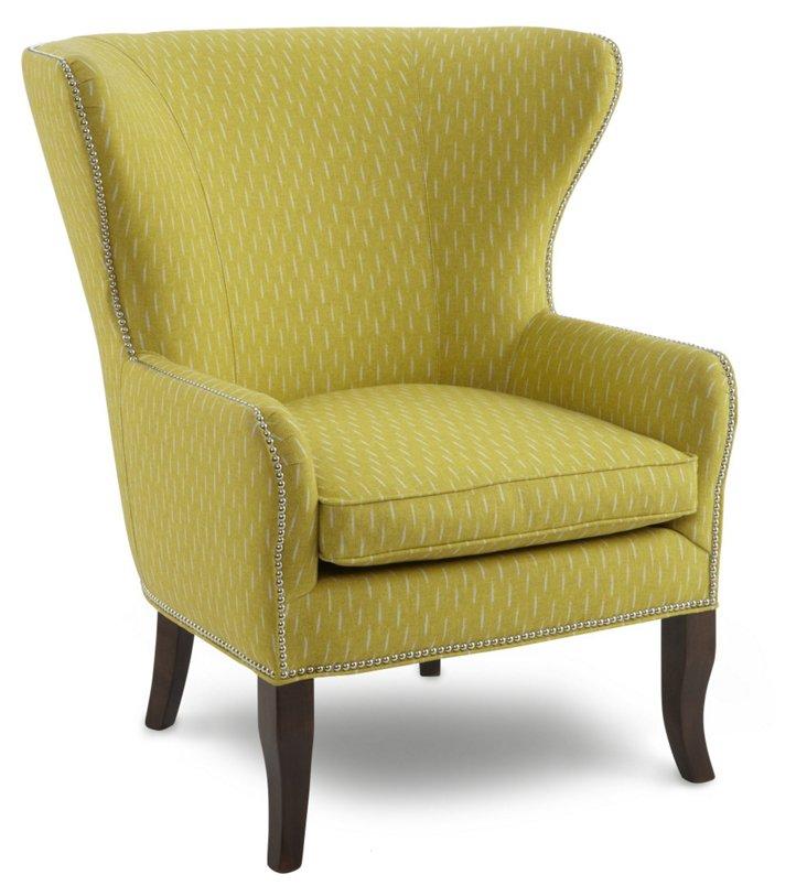 Baldwin Hills Wing Chair, Yellow