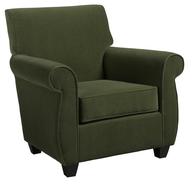 Arnie Club Chair, Moss