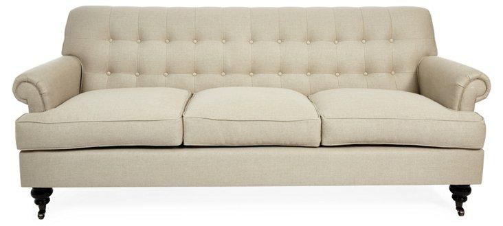 "Whitby 89"" Sofa, Oatmeal"