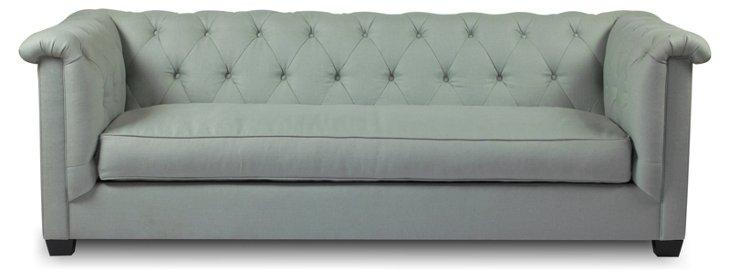 "Alexander 93"" Deep Sofa, Seafoam"